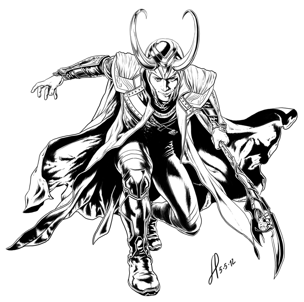 avengers coloring pages loki - photo#33
